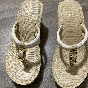 2 FOR $75 Aldo Wedge Sandals